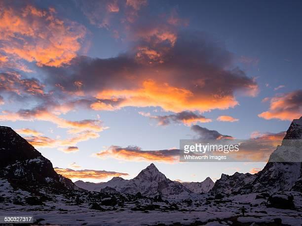 Ama Dablam at sunrise from Dzongkla Nepal