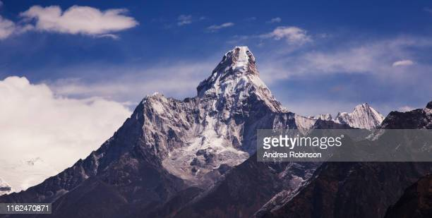 ama dablam from everest view near namche bazaar, everest base camp trek, nepal - khumbu stock pictures, royalty-free photos & images