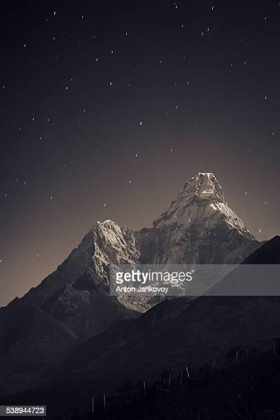 Ama Dablam in the night