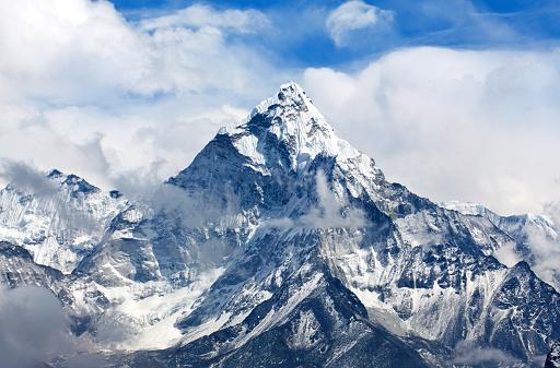 Ama Dablam Mount in the Nepal Himalaya 485966046
