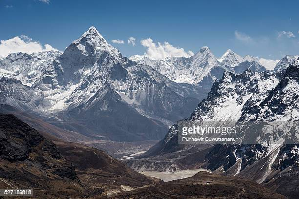 Ama Dablam mountain view from Chola pass, Everest region