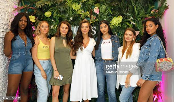 Ama Peters Kate Rooney Emily Blackwell Amy Jackson Nina Vee Emma Graceland Shannon Bridget attend the launch of GUESS 1981 Los Angeles fragrance with...