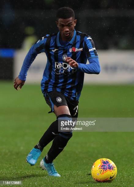 Amad Traore of Atalanta BC in action during the Serie A match between Atalanta BC and Juventus at Gewiss Stadium on November 23, 2019 in Bergamo,...