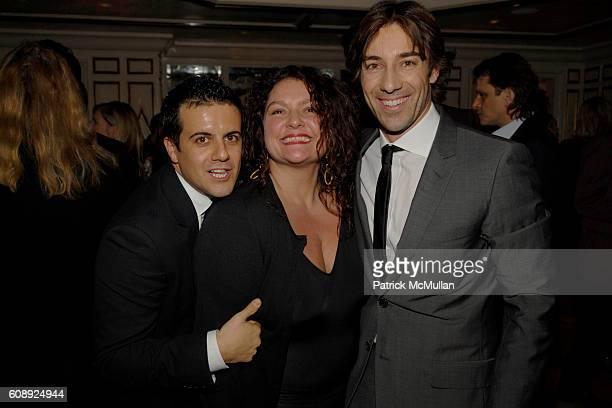 Amadeo Scognamiglio Aida Turturro and Roberto Faraone Mennella attend FARAONE MENNELLA 5th Year Anniversary Party at Bergdorf Goodman on November 28...