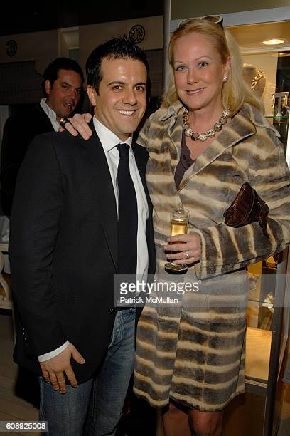 Amadeo Scognamiglio and Nina Griscom attend FARAONE MENNELLA 5th Year Anniversary Party at Bergdorf Goodman on November 28 2007 in New York City