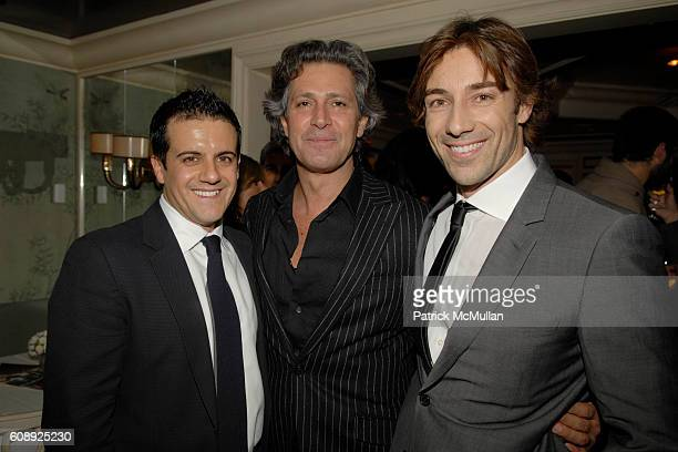 Amadeo Scognamiglio Carlos Souza and Roberto Faraone Mennella attend FARAONE MENNELLA 5th Year Anniversary Party at Bergdorf Goodman on November 28...