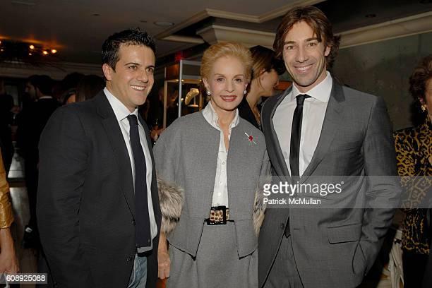 Amadeo Scognamiglio Carolina Herrera and Roberto Faraone Mennella attend FARAONE MENNELLA 5th Year Anniversary Party at Bergdorf Goodman on November...