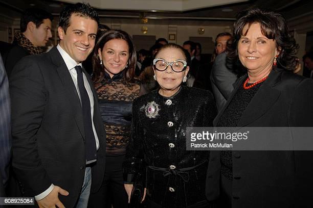 Amadeo Scognamiglio Cinzia Beruasaoni Ligori Borotea and Adriana Beruasoni attend FARAONE MENNELLA 5th Year Anniversary Party at Bergdorf Goodman on...