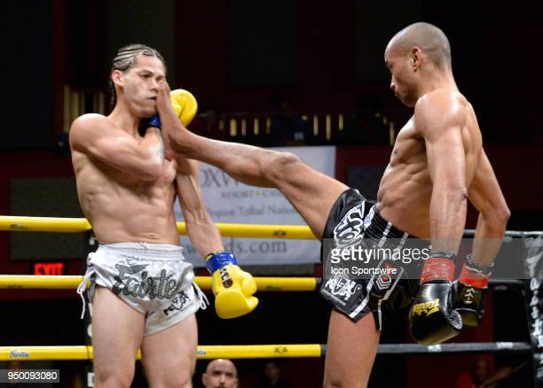 Amadeu Cristiano lands a kick to the face of Eddie AbasoloEddie Abasolo takes on Amadeu Cristiano in a North American Middleweight Title bout on...