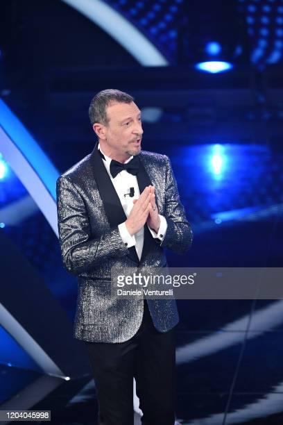 Amadeus attends the 70° Festival di Sanremo at Teatro Ariston on February 04, 2020 in Sanremo, Italy.