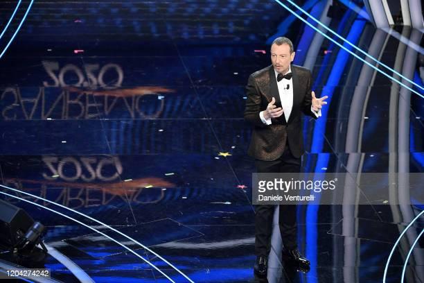 Amadeus attends the 70° Festival di Sanremo at Teatro Ariston on February 05, 2020 in Sanremo, Italy.