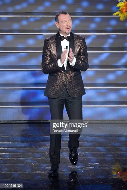 Amadeus attends the 70° Festival di Sanremo at Teatro Ariston on February 06 2020 in Sanremo Italy