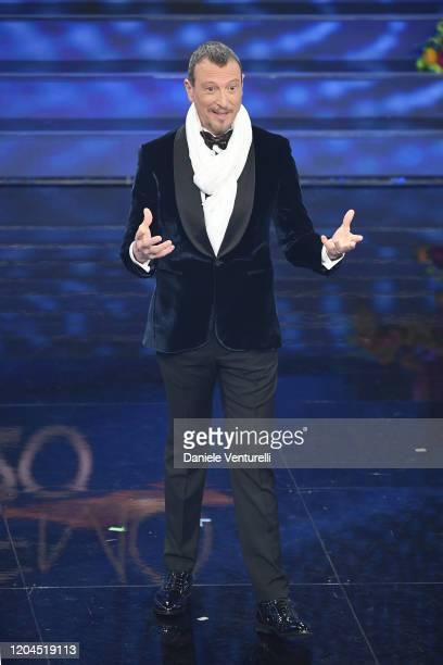 Amadeus attends the 70° Festival di Sanremo at Teatro Ariston on February 06, 2020 in Sanremo, Italy.