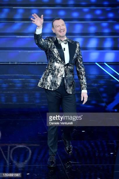 Amadeus attends the 70° Festival di Sanremo at Teatro Ariston on February 07, 2020 in Sanremo, Italy.