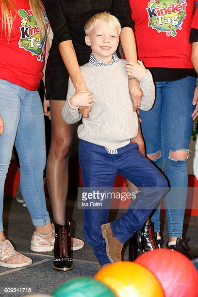 Amadeus Becker the son of Lilly Becker and Boris Becker attends the KinderTag to celebrate children's day on September 20 2016 in Noervenich near...