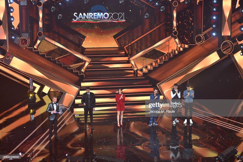 Sanremo Music Festival 2021 - Day 2 : Nachrichtenfoto
