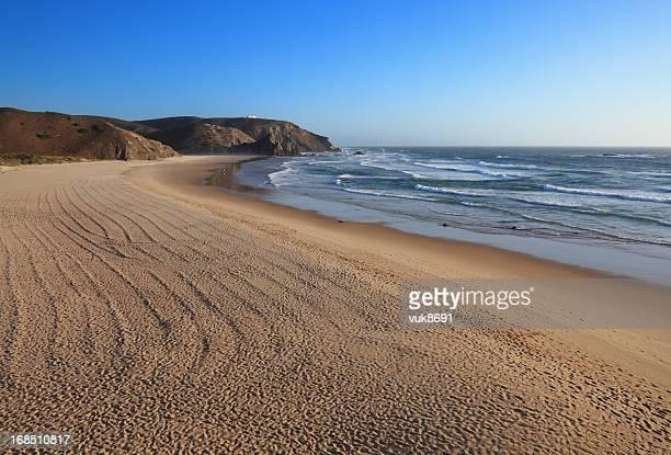 amado beach - sagres stockfoto's en -beelden