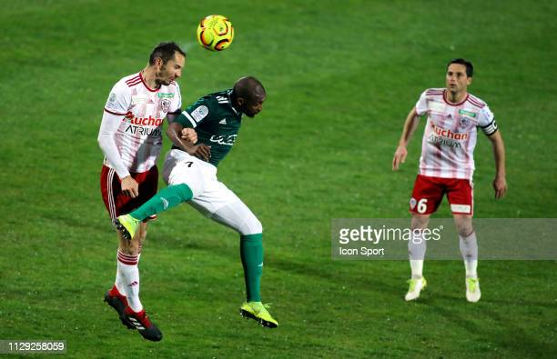 Amadou Diallo of Red Star during the Ligue 2 match between AC Ajaccio and Red Star at Stade Francois Coty on March 8 2019 in Ajaccio France
