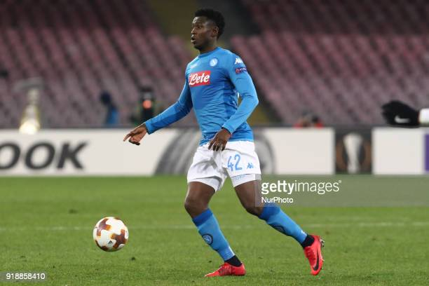 Amadou Diawara during the Europe Ligue football SSC Napoli v RB Leipzing at S Paolo Stadium in Naples on February 15 2018