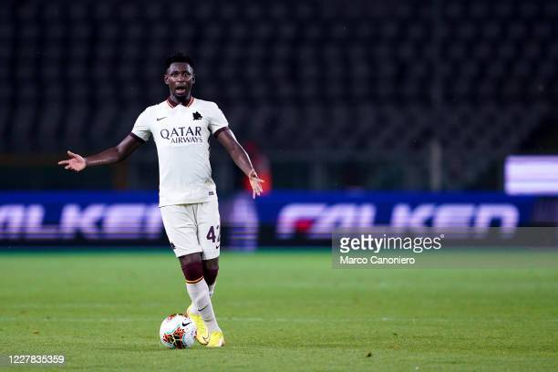 Amadou Diawara of As Roma in action during the Serie A match between Torino Fc and As Roma. As Roma wins 3-2 over Torino Fc.