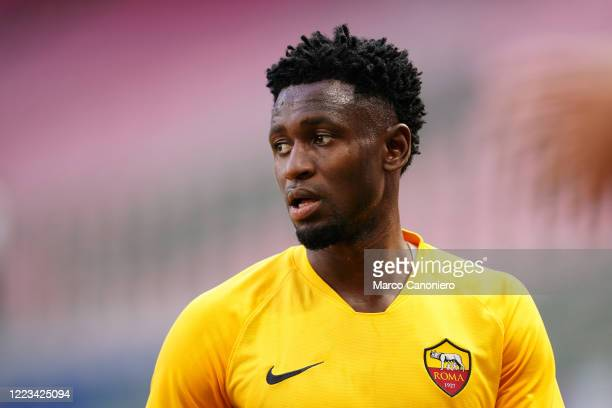 Amadou Diawara of As Roma looks on beofre the Serie A match between Ac Milan and As Roma. Ac Milan wins 2-0 over As Roma.