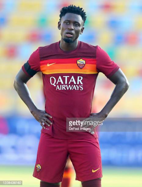 Amadou Diawara of AS Roma looks on during the Pre-Season friendly match between Frosinone Calcio and AS Roma at Stadio Benito Stirpe on September 9,...