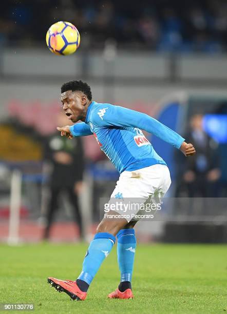 Amadou Diawara of Atalanta BC in action during the TIM Cup match between SSC Napoli and Atalanta BC on January 2 2018 in Naples Italy