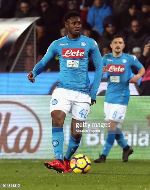 Amadou Diawara of Napoli during the serie A match between Benevento Calcio and SSC Napoli at Stadio Ciro Vigorito on February 4 2018 in Benevento...
