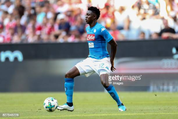Amadou Diawara of Neapel controls the ball during the Audi Cup 2017 match between SSC Napoli and FC Bayern Muenchen at Allianz Arena on August 2 2017...