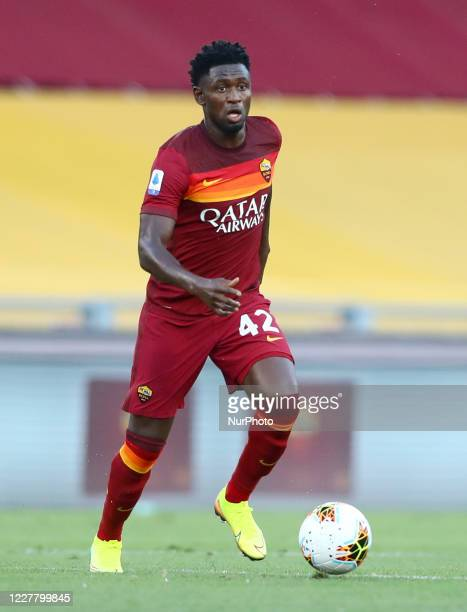 Amadou Diawara of Roma during the football Serie A match AS Roma v AC Fiorentina at the Olimpico Stadium in Rome, Italy on July 26, 2020