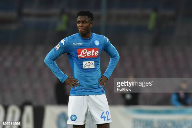 Amadou Diawara of SSC Napoli during the Serie A TIM match between SSC Napoli and UC Sampdoria at Stadio San Paolo Naples Italy on 23 December 2017