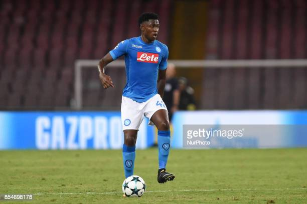 Amadou Diawara of SSC Napoli during the UEFA Champions League Final match between SSC Napoli and Feyenoord at Stadio San Paolo Naples Italy on 27...