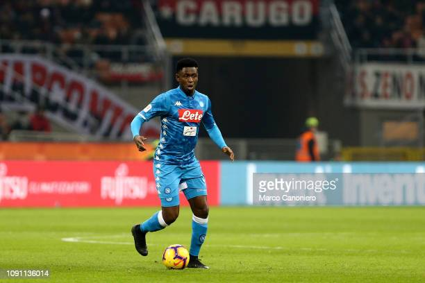 Amadou Diawara of Ssc Napoli in action during Coppa Italia quarter-finals football match between Ac Milan and Ssc Napoli. Ac Milan wins 2-0 over Ssc...