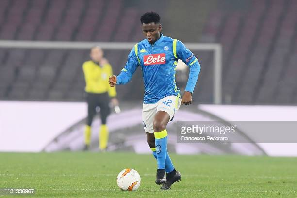 Amadou Diawara of SSC Napoli in action during the UEFA Europa League Round of 32 Second Leg match between SSC Napoli v FC Zurich at Stadio San Paolo...