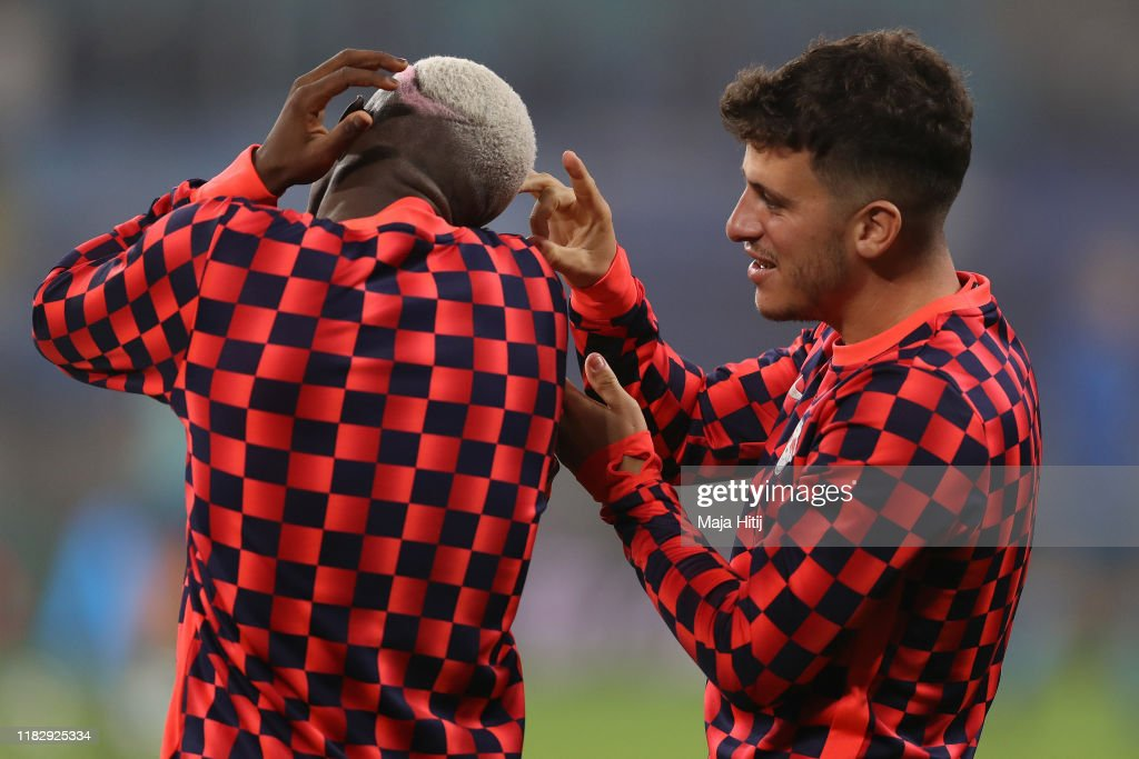 Amadou Haidara And Diego Demme Of Rb Leipzig Warm Up Prior To The News Photo Getty Images