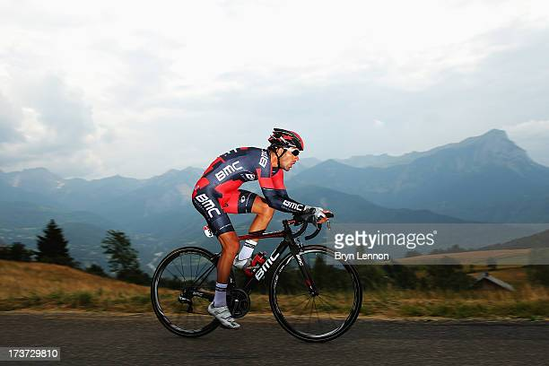 Amael Moinard of France and BMC Racing Team rides during stage seventeen of the 2013 Tour de France, a 32KM Individual Time Trial from Embrun to...