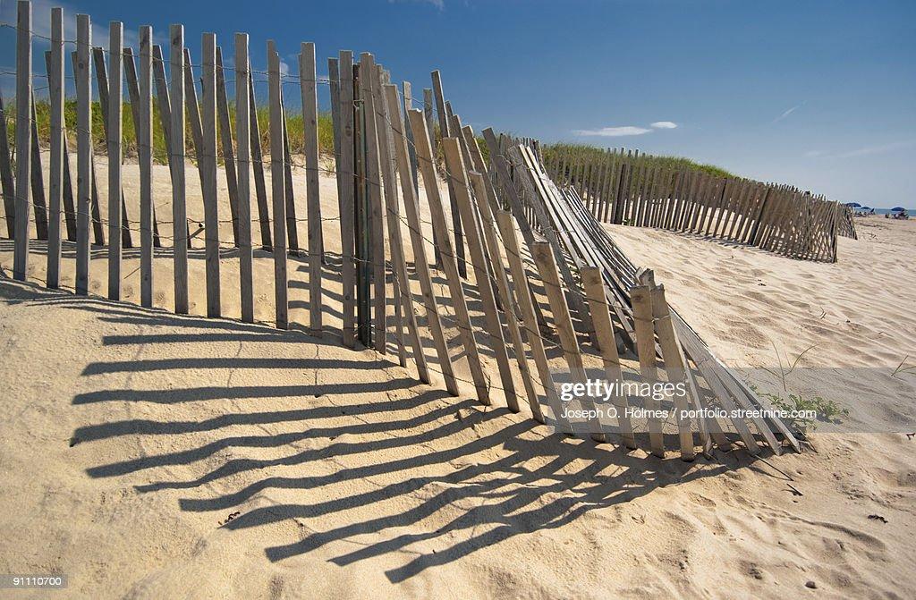 Amagansett Beach Fence Stock Photo Getty Images