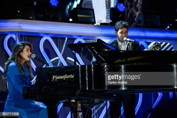 Amaia and Alfred from OT are seen performing during the 'Cadena Dial' Awards Gala 2018 on March 15 2018 in Tenerife Spain