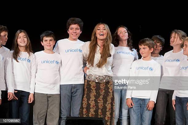 Amaia Montero attendes new Unicef musical christmas press conference at Nuestra Señora del Recuerdo school on November 23 2010 in Madrid Spain