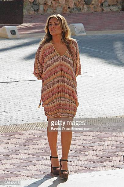 Amaia Montero attends a press conference to present a charity concert for Unicef and Fundacion Iberostar on August 25 2010 in Palma de Mallorca Spain