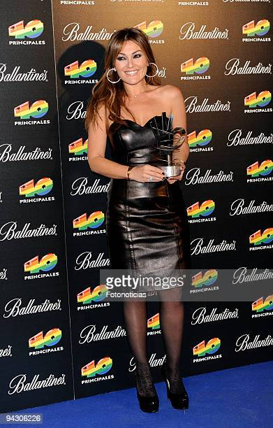 Amaia Montero attends attends the ''40 Principales'' Awards 2009 winners and performers photocall at the Palacio de Deportes on December 11 2009 in...