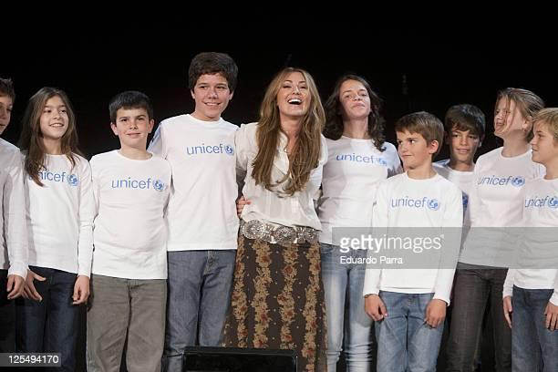 Amaia Montero attends new Unicef musical christmas press conference at Nuestra Señora del Recuerdo school on November 23 2010 in Madrid Spain