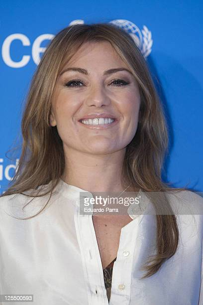 Amaia Montero attends new Unicef musical christmas press conference at Nuestra Señora del Recuerdo school on November 23 2010 in Madrid Spain