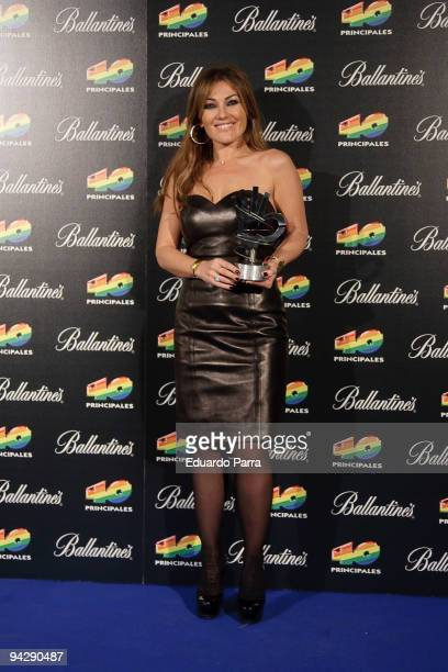 Amaia Montero attends the ''40 Principales Awards'' winners and performers photocall at Sports Palace on December 11 2009 in Madrid Spain