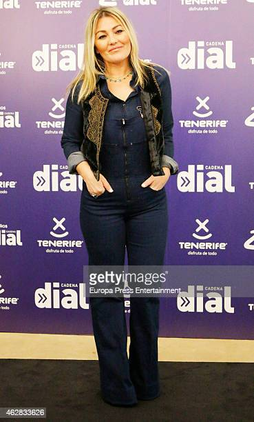 Amaia Montero attends the presentation of 25th Anniversary of Cadena Dial at Casino Madrid on February 5 2015 in Madrid Spain
