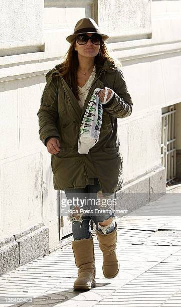 Amaia Montero is seen shopping on December 28 2011 in Madrid Spain