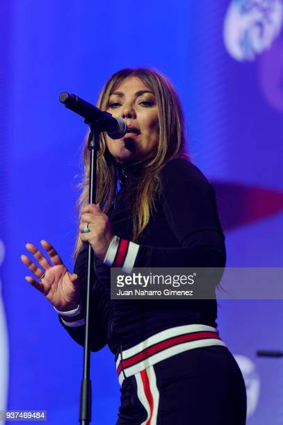 Amaia Montero performs during 'La Noche De Cadena 100' charity concert at WiZink Center on March 24 2018 in Madrid Spain