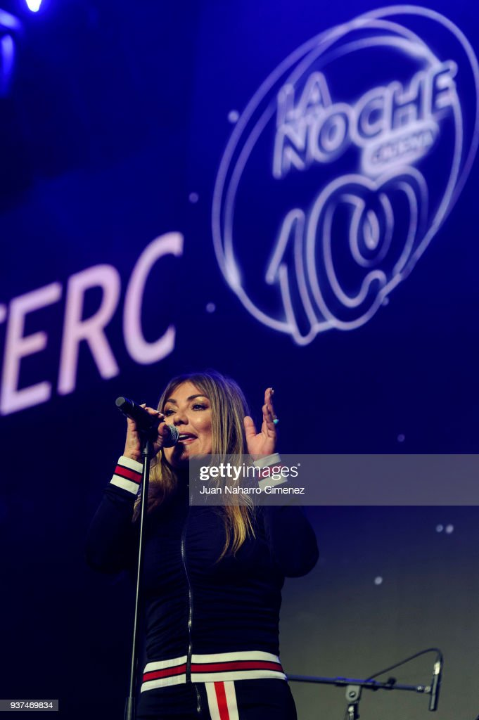 Amaia Montero performs during 'La Noche De Cadena 100' charity concert at WiZink Center on March 24, 2018 in Madrid, Spain.