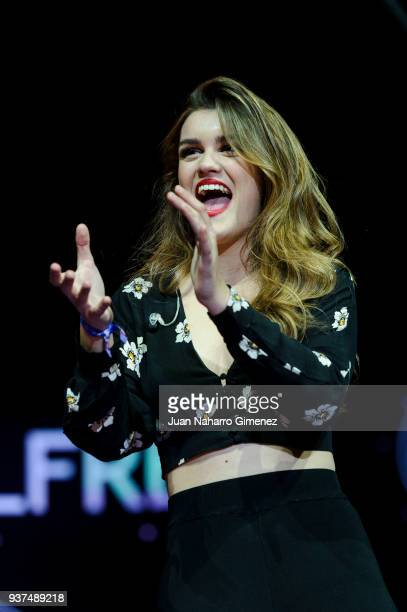 Amaia performs during 'La Noche De Cadena 100' charity concert at WiZink Center on March 24 2018 in Madrid Spain