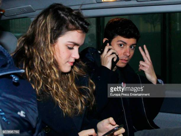 Amaia Romero and Alfred Garcia are seen on February 21 2018 in Madrid Spain